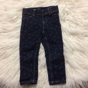 Jordache Floral Denim Jegging Jeans Size 2T